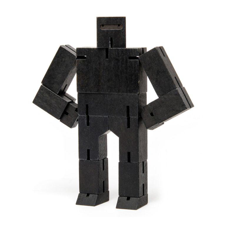 Areaware Cubebot Ninja Small Black