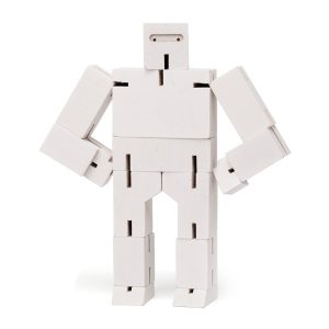Areaware Cubebot Ninja Small White