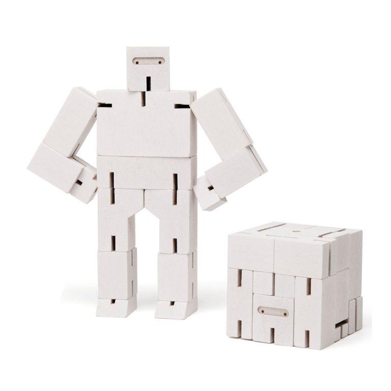Areaware Cubebot Ninja Small White