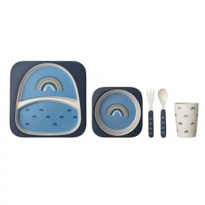 Bloomingville Henry Bamboo Serving Set Blue