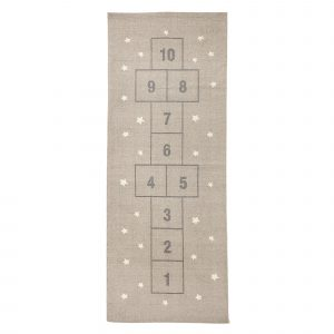 Bloomingville Rug La Marelle Hop Scotch Grey Cotton 170 x 65cm