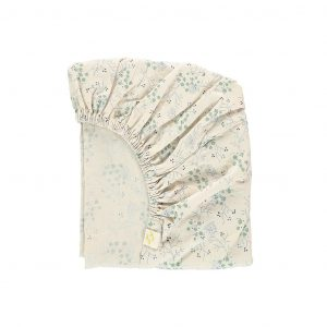 Camomile London Fitted Sheet Minako Floral Cornflower
