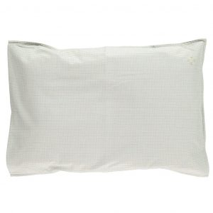 Camomile London Pillowcase Double Check Blue