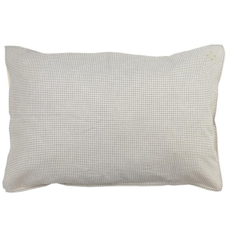 Camomile London Pillowcase Double Check Grey