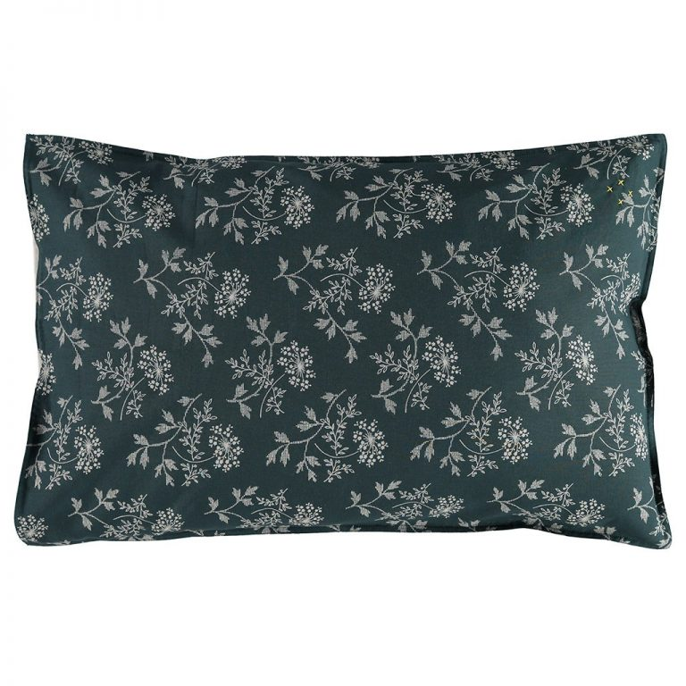 Camomile London Pillowcase Hanako Floral Thunder Blue