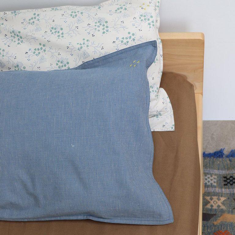 Camomile London Pillowcase Minako Floral Cornflower