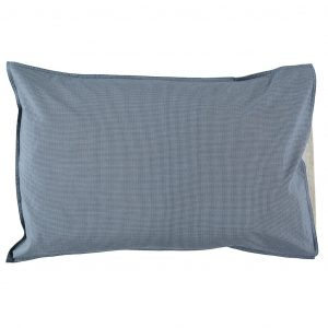 Camomile London Pillowcase Mini Check Blue