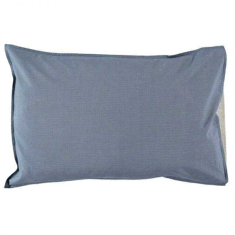 Camomile London Pillowcase Mini Check Blue