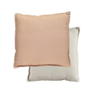 Camomile London Reversible Square Cushion Small Peach Blossom/Stone