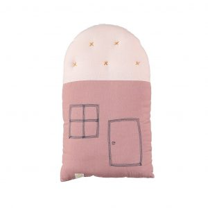 Camomile London Small House Cushion Blush/Peach Blossom