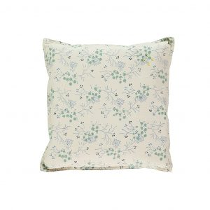 Camomile London Square Cushion Small Minako Floral Cornflower