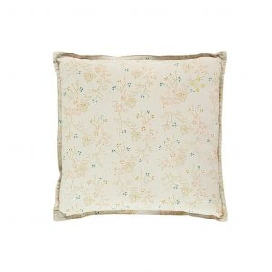 Camomile London Square Cushion Small Minako Floral Golden