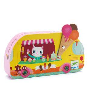 Djeco Ice Cream Truck 16pc Silhouette Puzzle