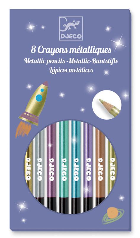 Djeco Metallic Pencils x 8