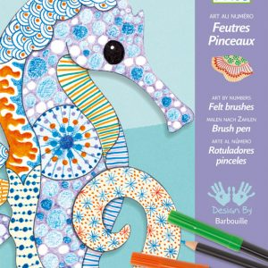 Djeco Motif Art Felt Brush Markers