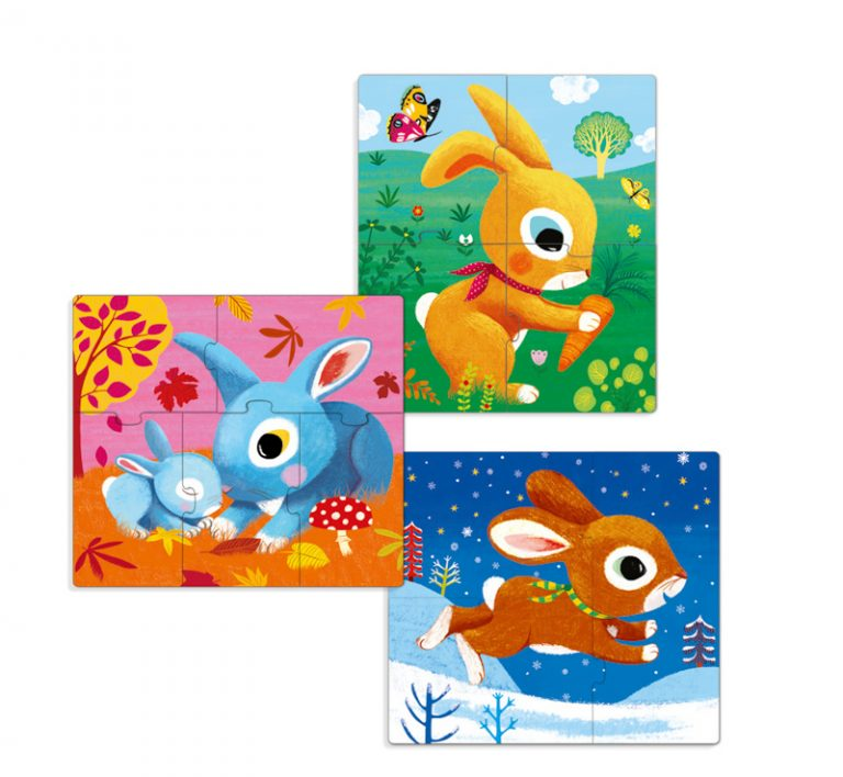 Djeco Rabbits 3 Set Puzzles
