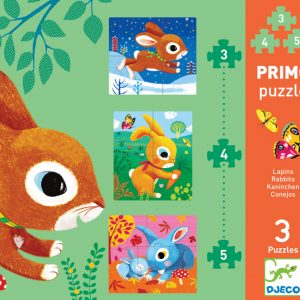 Djeco Rabbits 3 Set Puzzles2