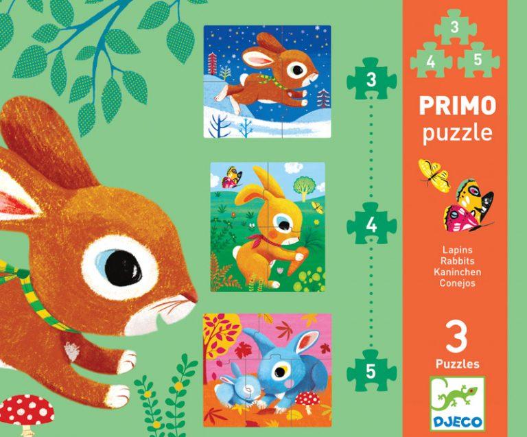 Djeco Rabbits 3 Set Puzzles2
