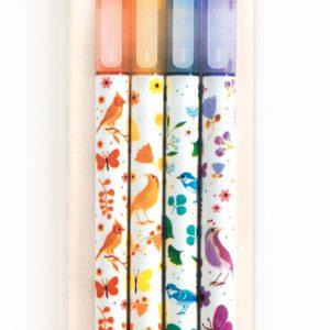 Djeco Tinou Glitter Markers x 4