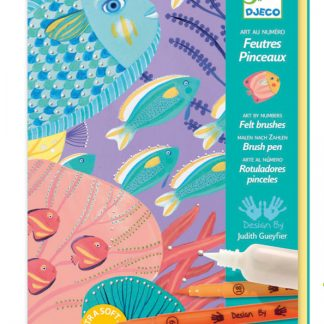 Djeco Under Sea Felt Brush Markers