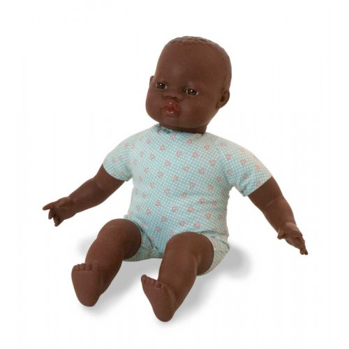Miniland Soft Bodied African Baby Doll 40cm New