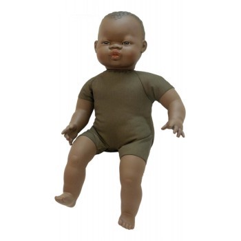 Miniland Soft Bodied African Baby Doll 40cm
