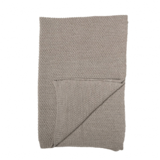 Bloomingville Wool Throw Brown