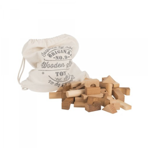 Wooden Story Natural Blocks In A Bag 100pc