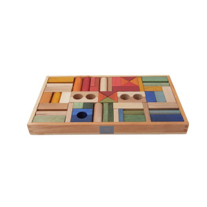 Wooden Story Rainbow Blocks 54pc