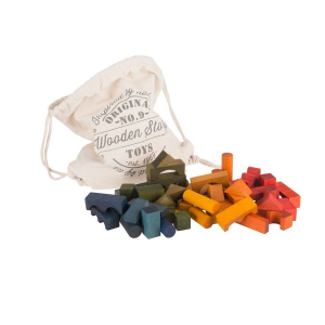 Wooden Story Rainbow Blocks In A Bag 100pc