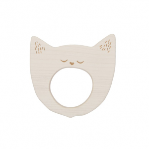 Wooden Story Soother Yawning Cat