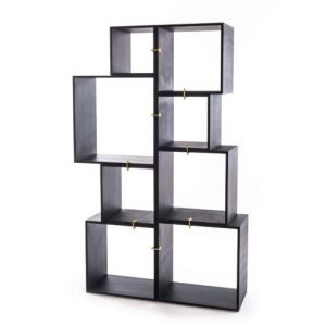 Seletti Assemblage of 8 Modules (Modular Bookcase) Anthracite