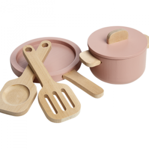 Flexa Toys Pot and Pan Play Set Light Rose