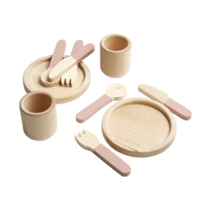 Flexa Toys Tableware Play Set Light Rose