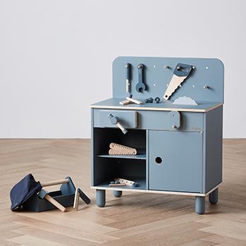 Flexa Toys Tool Box Dark Blue