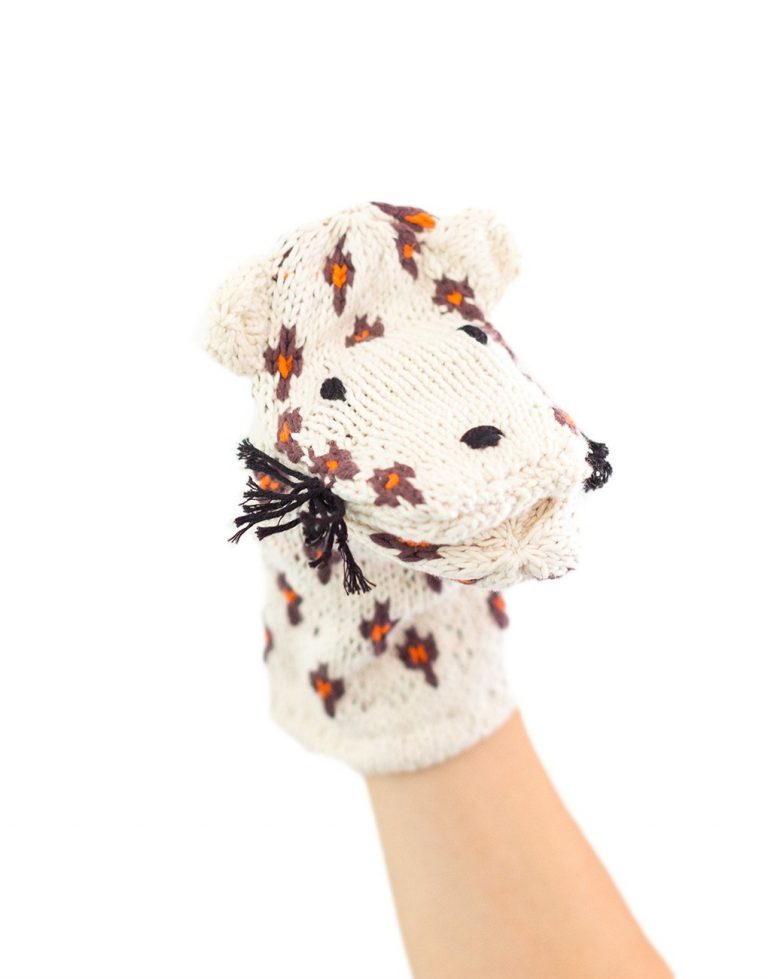Kenana Knitters Hand Puppet Leopard