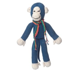 Kenana Knitters Organic Cotton Spider Monkey Blue