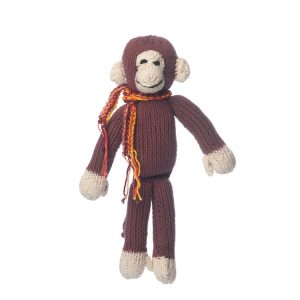 Kenana Knitters Organic Cotton Spider Monkey Brown