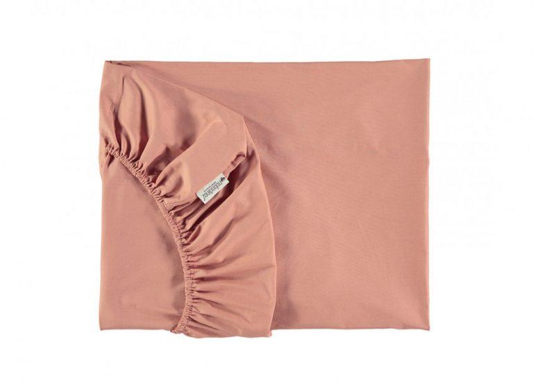 Nobodinoz Alhambra Crib Fitted Sheet Dolce Vita Pink