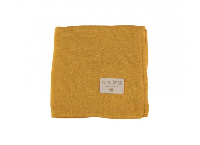 Nobodinoz Baby Love Swaddle Box Set of 3 Farniente Yellow