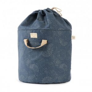 Nobodinoz Bamboo Large Toy Bag Gold Bubble/Night Blue