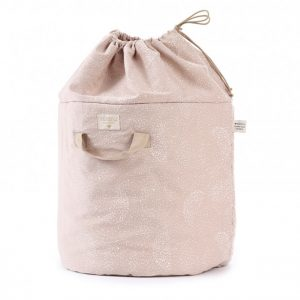 Nobodinoz Bamboo Large Toy Bag White Bubble/Misty Pink