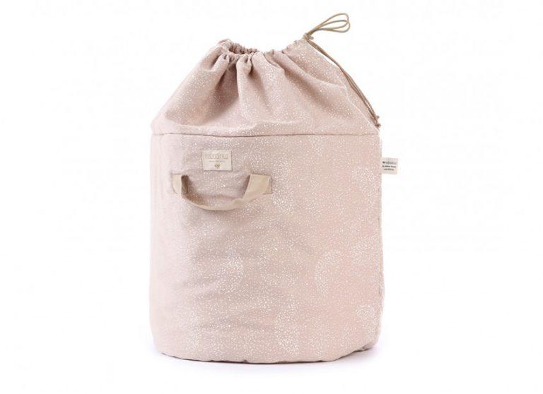 Nobodinoz Bamboo Large Toy Bag White Bubble/Misty Pink