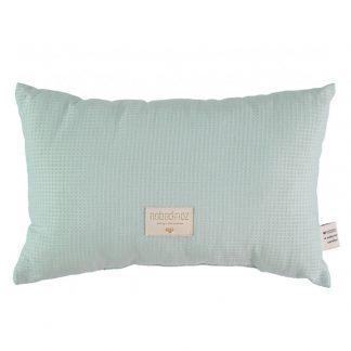 Nobodinoz Laurel Honeycomb Cushion Aqua
