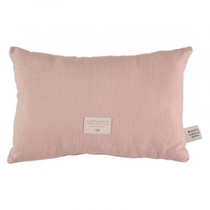 Nobodinoz Laurel Honeycomb Cushion Misty Pink