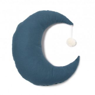 Nobodinoz Pierrot Moon Cushion Night Blue