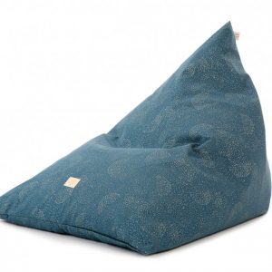 Nobodinoz Zen Bean Bag Gold Bubble/Night Blue