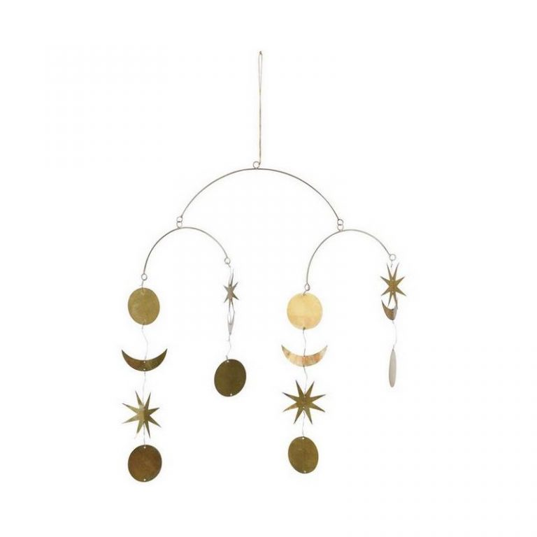 Bloomingville Terrain Wall Decor Gold Metal