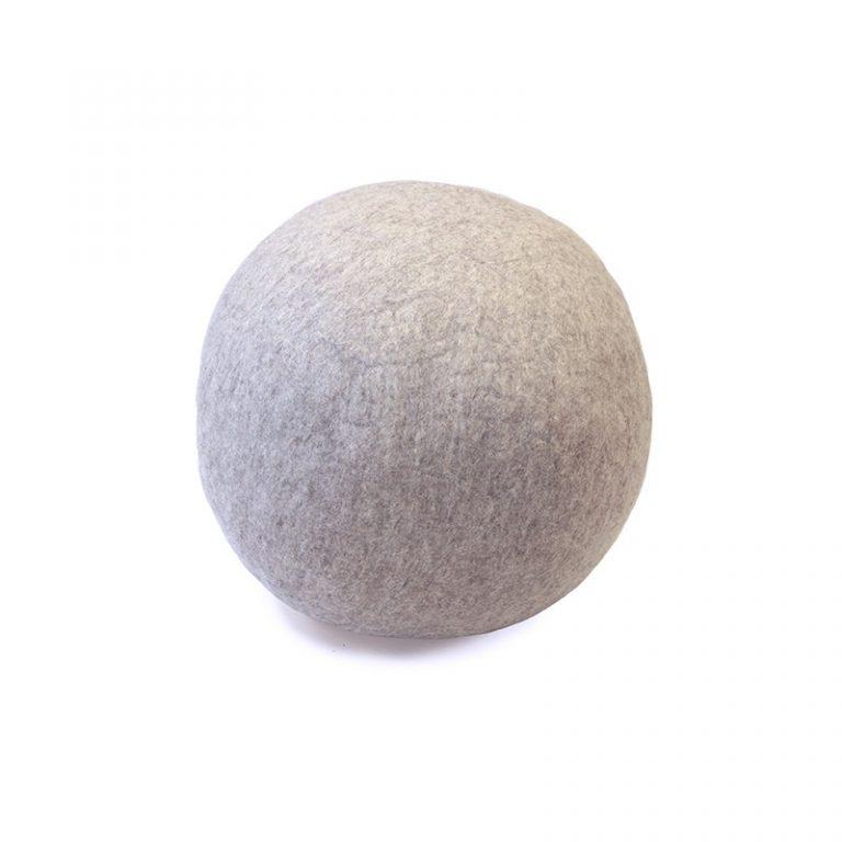 Muskhane Ball Pouf Light Stone XXL