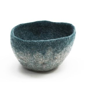 Muskhane Bicolour Bowl Light Stone/Duck Blue